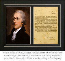 Alexander Hamilto signed treasury dept letter (autograph)- PROFESSIONALLY MATTED
