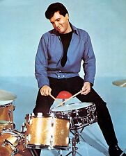 SUPER RARE PHOTO OF ELVIS PRESLEY PLAYING DRUMS