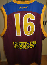 Brisbane -Jonathan Brown signed  Lions #16 Jersey (Unframed) + COA & Photo proof