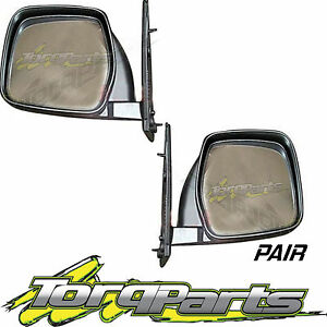 MIRRORS PAIR MANUAL SUIT TOYOTA HIACE SBV 95-03 DOOR SIDE REAR VISION