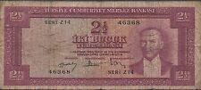 Turkey , 2 1/2 Lira , L.11.5.1930/1957 , P 152a , Series ** Z 14 **, Replacement