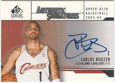 2003-04 UPPER DECK SIGNATURE EDITION SIGNATURES (CARLOS BOOZER) BV $20