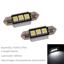 2x White 3SMD 36mm Error Free Canbus Festoon Number License Plate Light Car LED
