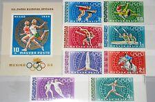 HUNGARY UNGARN 1968 2434-41 B Block 65 B 1924 C277-83 Olympics Mexico Sport MNH