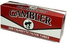 Gambler Regular Full Flavor King Size RYO Cigarette Tubes - 5 Boxes (1000 Tubes)
