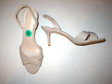 New Womens Calvin Klein Slingbacks Beige Heels Open Toe 8 Patent Taupe Nude