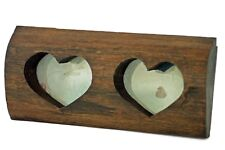 """Wooden rustic hearts picture frame for 5""""x3.5"""" Handmade Reclaimed solid Teak"""
