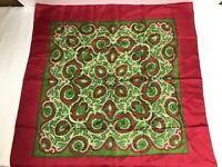 Authentic Vintage Liberty Of England Silk Square Paisley Red/Green LIBERTY EUC