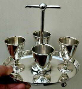 ANTIQUE CHRISTOPHER DRESSER HUKIN & HEATH SILVER PLATED EGG CUP HOLDER -LOVELY