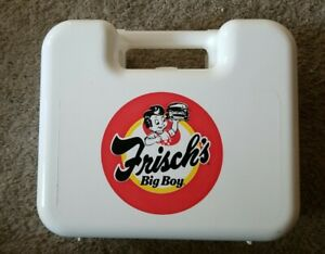 Frisch's Big Boy White Plastic Lunch / Pencil Box Case
