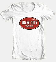 Iron City Beer graphic T-shirt cool retro 80s Pittsburgh football cotton tee