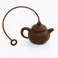 New Creative Silicon Tea Teapot Shaped Tea Bag Filter Safely Cleaning Infuser Lb
