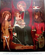 LA VIERGE AVEC L'ENFANT JESUS ST MICHEL JEANNE D'ARC CHROMOLITHOGRAPHIE