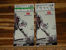 NBA Tickets Vintage Portland Trail Blazers Ticket Stub Lot #19 B. Grant 1999
