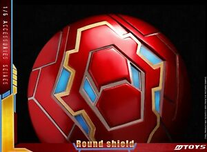 MTOYS MS001 1/6 lloy Round Shield Model fit for 12inches Iron Man MK50 Figure