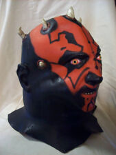 Darth Maul Costume Mask Authentic Star Wars Clone Sith Full Latex Halloween