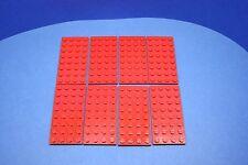LEGO 8 x Basisplatte 4x8 rot red basic plate 3035 303521
