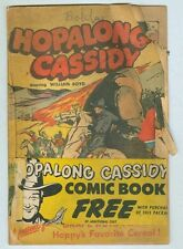 Hopalong Cassidy 1950 Grape Nuts Giveaway poor