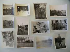 ORIG WK2/WW2 12 X FOTO SOLDATEN OFFIZIERE ZU PFERD