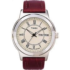 Timex Men's | Roman Numerals w White Dial | Elevated Classics Dress Watch T2E581
