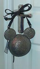 Primark Disney Mickey Minnie Mouse Da Donna Discoteca Glitter Palla tracolla BORSETTA NUOVA CON ETICHETTA