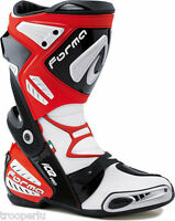 FORMA BOOTS RACE SPORT ICE PRO MOTORCYCLE BOOTS RED CE APPROVED #FRIPRRE