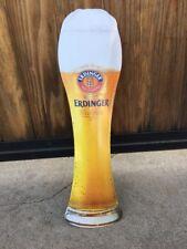 Erdinger Weissbrau German Wheat Beer Collectible Glass-Shape Metal Beer Sign