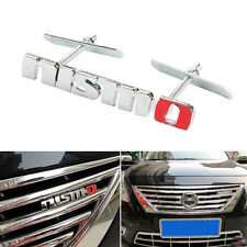 Brand New Alloy Red & Black NISMO Front Emblem Grill Kidney Badge For Nissan