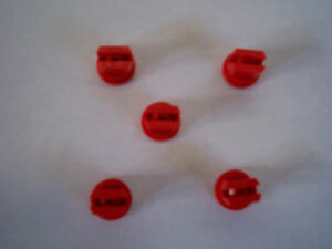 Pack of 5 Red Standard Fan Nozzle Tips 110 Degrees Sprayer, Spray
