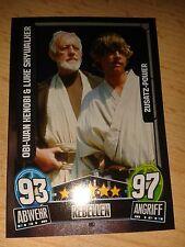 Force Attax Star Wars Movie 3 Zusatz-Power 197 Kenobi & Luke Sammelkarte