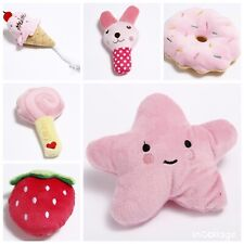 6 Pet Dog Bundle Soft Chew Toy Puppy Pink Girl Cute Sound Squeaker Toys UK