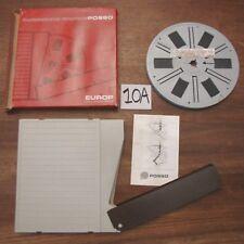 Bobina film super 8 mm EUROP POSSO e custodia 120 metri mt 17,5 cm EGITTO 1981