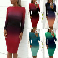 Sexy & Club Women Bodycon Dress Casual Backless Long Sleeve Pencil Dresses