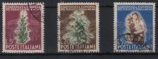 1950 ITALIA Serie Coferenza Tabacco 3 Val Usati Sassone 629/31 Ottimi Annulli