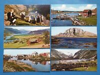 Set of 6 Miniature Vintage Norway Panoramic Postcards 28R