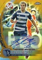 2014 Topps Chrome Major League Soccer - Base Autographs Gold Parallel /50