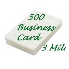 500 Business Card 3 Mil Laminating Pouches Laminator Sheets 2-1/4 x 3-3/4