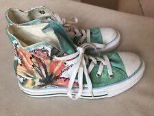Converse flower watercolor shoes sz 6 women's Free Shipping