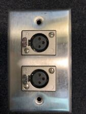 Xlrf Duplex Wall Plate Free Shipping! (2 Available)