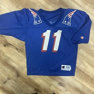 DREW BLEDSOE NEW ENGLAND PATRIOTS VINTAGE 90s CHAMPION NFL FOOTBALL JERSEY YOUTH