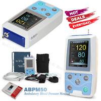 CONTEC ABPM50 Ambulantes Blutdruckmessgerät 24 Stunden NIBP Recorder + Software