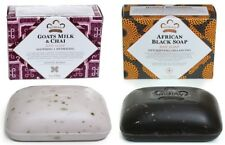Nubian Heritage -1- Afri- Black Soap &1- Goats Milk Soap - 5oz Bars/ Shea Butter