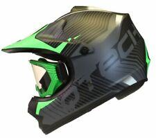 Caschi verde di motocross e quad per la guida di veicoli taglia L