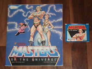 Masters Of The Universe 1983 Complete He-Man Panini Album and more...