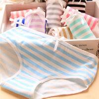 Women Lovely Cute Underwear Strip Bow Cotton Briefs Panties Hipster UndeTOCA