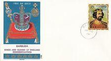 (86070) Barbuda Philart FDC Kings & Queens Edward I - 15 June 1970