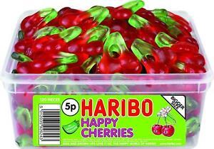 HARIBO Jelly Cherries 120 Per Tub