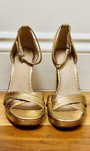 Michael Kors High Heel Gold Sandals Size US6M (UK4)