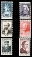 France #B285-B290 MNH CV$150.00 1954 Semi-Postal Portrait Set