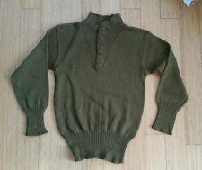 Original 40s WW2 US Army OD Combat Sweater w Cat Eye Buttons Field Gear 40 RARE